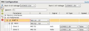 ZYNQ MIO Configuration